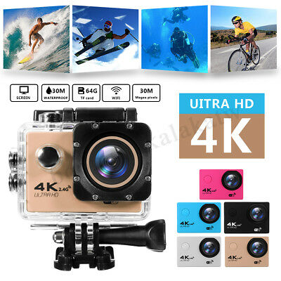 Ultra HD 4K 1080p WIFI Sports Action Video DV Mini Camera Camcorder Waterproof