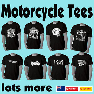 Funny Motorbike T-Shirts Biker Motorcycle Cafe Racer Mens t shirt Fathers Day