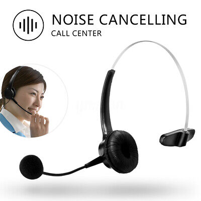 Telephone Call Centre Headset RJ11 Connector Noise Cancelling Mic Office Phone