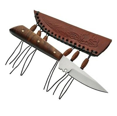 PA3296 Skinner Patch Hunting Full Tang Fixed Blade Knife + Sheath