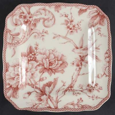 222 Fifth ADELAIDE MAROON Square Salad Plate 10383772