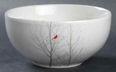 222 Fifth RED CARDINAL Soup Cereal Bowl 9959450