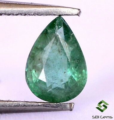 0.59 Cts Certified Natural Emerald Pear Cut 7x5 mm Untreated Loose Gemstone