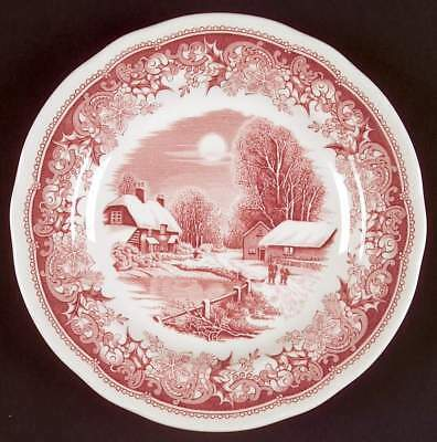 Spode WINTER'S EVE RED Bread & Butter Plate (England) 6118778