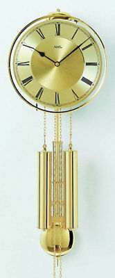 AMS 356 - Wall Clock - Metal  - Pendulum Clock - Mechanical Clock - New