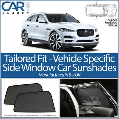 Jaguar F-Pace 5dr 2016> CAR SHADES UK TAILORED UV SIDE WINDOW SUN BLIND PRIVACY