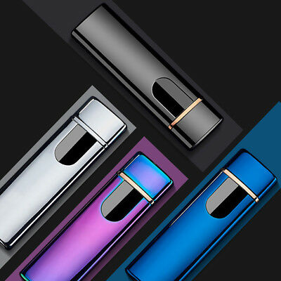 Safe USB Electric Dual Flameless Torch Rechargeable Windproof Cigarette Lighter