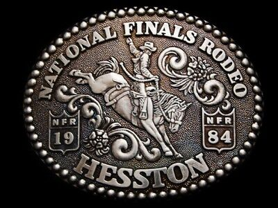 Oc10110 *Nos* Nfr ***1984 National Finals Rodeo*** Hesston Collector Buckle
