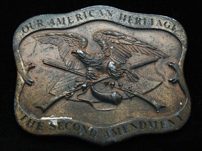 Oc21106 Vintage 1977 **Our American Heritage The Second Amendment** Belt Buckle