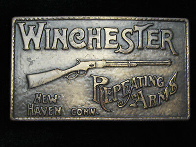 QD03125 VINTAGE 1970s **WINCHESTER REPEATING ARMS** GUN & FIREARM BELT BUCKLE