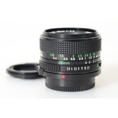 Canon Fd 2,8/28 Wide Angle / 28mm F/2.8 Wide Angle Lens