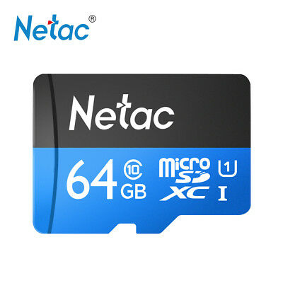 Netac SDXC 64GB Micro SD Memory TF Card 80MB/s UHS-I U1 Class 10 for Phone T8I6