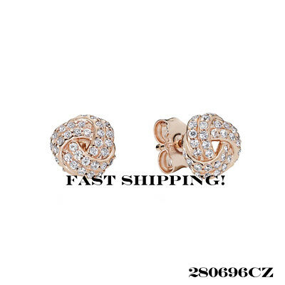 a32f0abb5 NEW! AUTHENTIC PANDORA Silver Earrings Sparkling Love Knot #290696Cz ...