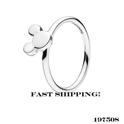 62d21ac68 Authentic Pandora sterling silver Disney Mickey Silhouette ring 197508 50mm  (5)