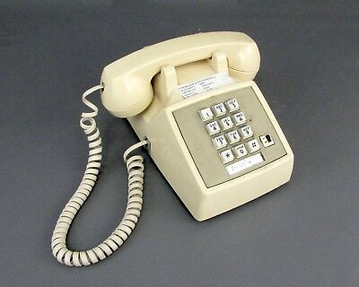 Vintage AT&T Push Button Telephone Tan