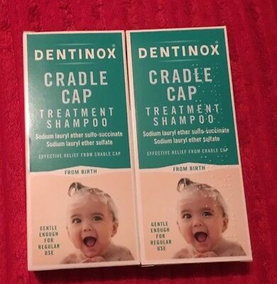 Dentinox cradle cap treatment shampoo gentle baby from birth NEW STOCK 125ml X2