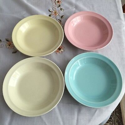 "Vintage  Smith Taylor Luray Pastels (4) 7 3/4"" Fruit / Soup Bowls."