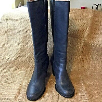 c8ca63caddc LUCKY BRAND WOMEN'S Maidie Tuscany Rider Knee High Boots Size 7.5M Black  Leather