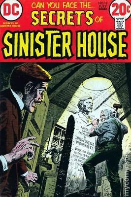 Secrets of Sinister House #12 1973 VG/FN 5.0 Stock Image Low Grade