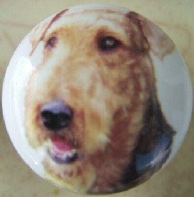 Cabinet Knob Airedale DOG knobs 229