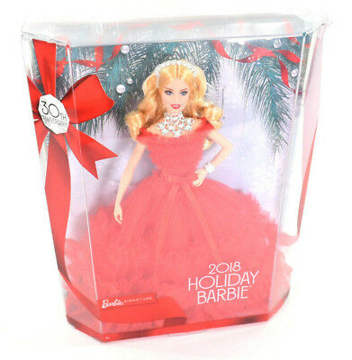30th Anniversary Holiday Blonde Barbie Doll 2018 NEW FRN69 MINT IN BOX