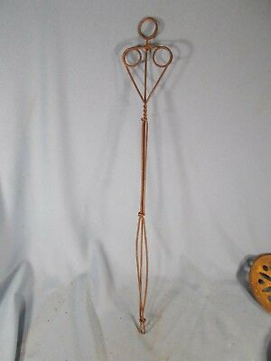 Old Primitive Twisted Wire Glass Chimney Lamp Cleaner  Antique Vintage