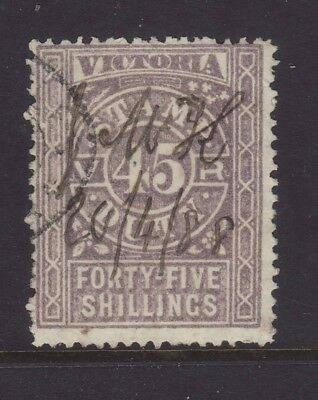 Victoria 1884 45/ Lilac Stamp Duty. SG 247