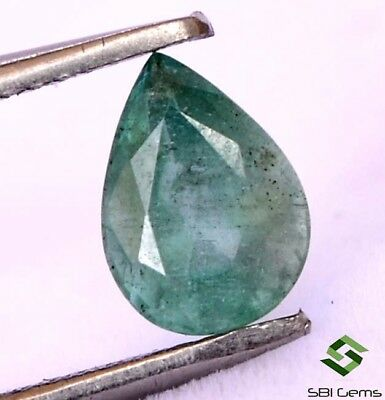 0.66 Cts Certified Natural Emerald Pear Cut 7x5 mm Untreated Loose Gemstone