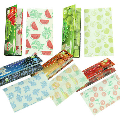 250 Leaves Lots 5 Fruit Flavored Smoking Cigarette Hemp Tobacco Rolling Papers