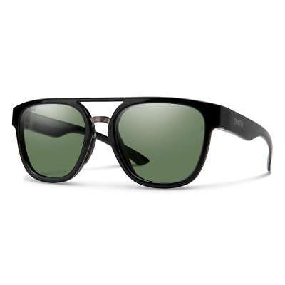 aefff307147 Smith Optics Agency Sunglasses - Black Frame ChromaPop Polarized Gray Green  Lens