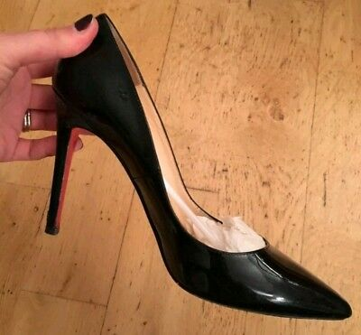 307295b33d17 WOMAN S CHRISTIAN LOUBOUTIN Cabo Pump Black Leather Embellished Toe ...