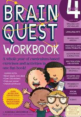 Brain Quest Grade 4 Workbook [With Over 150 Stickers an - Paperback NEW Gregorvi