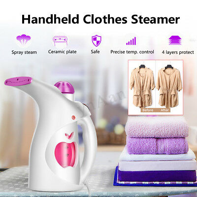 Portable Handheld Steam Cleaner Garment Fabric Clothes Steamer Iron Sanitiser !