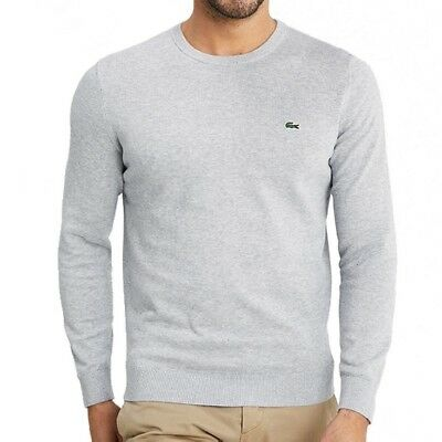 2b3cb9a2318 PULL - LACOSTE - Homme - Col Rond - Gris Clair - Taille S - EUR 40 ...
