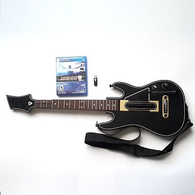 PS4 Guitar Hero Live Bundle Sony Playstation 4 Game Dongle & Guitar