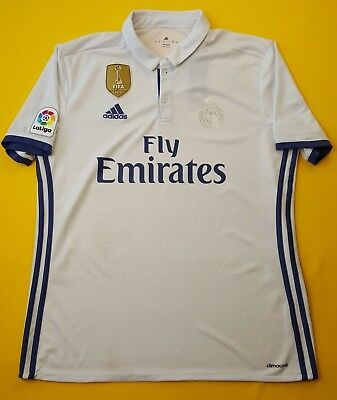 82a805a4d 4.4 5 Real Madrid jersey large 2016 2017 home shirt S94992 soccer Adidas  ig93