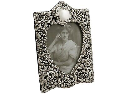 Antique Edwardian Sterling Silver Photograph Frame 1901