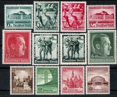 3rd Reich 12 Rare 1938 Stamps Complete Sets All MINT!!
