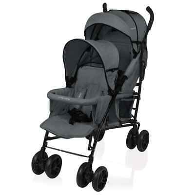 Little World Twin Stroller Twing Dark Grey Buggy Pushchair Pram LWST002-DKGY