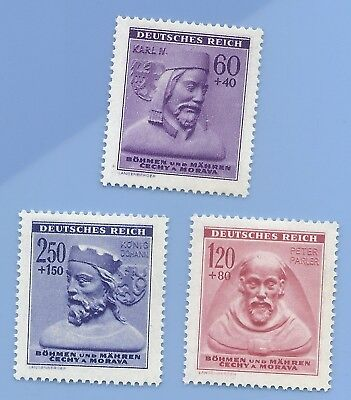 Nazi Germany Third Reich Nazi B&M Peter Karlin Konig Stamp set MNH WW2 Era