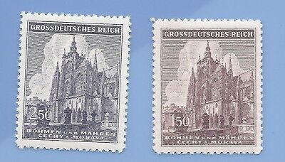 Nazi Germany Third Reich Nazi B&M  Building Stamp set MNH WW2 Era