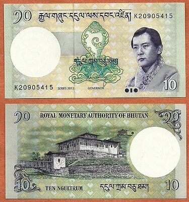 Bhutan, 2013, UNC, 10 Ngultrum, Banknote, Paper  Money Bill, P-29b