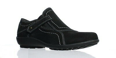 New Walking Cradles Womens Hardy Black Roughout Casual Flats Size 4.5