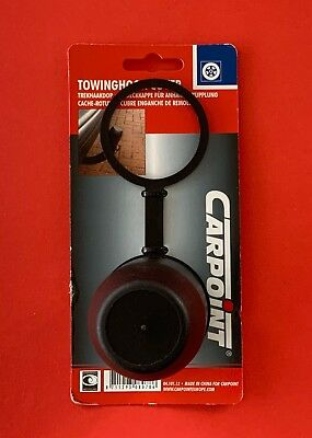 BLACK Plastic Tow Ball Cover /Cap/Protector 50mm Swan Neck/Flange Retaining Ring