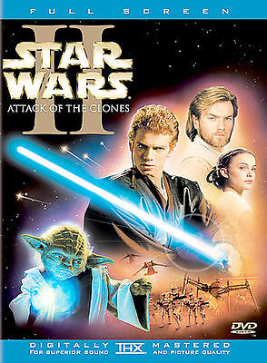 2002 DVD - STAR WARS II 2 ATTACK OF THE CLONES - 2 Disc Full Screen Movie Video