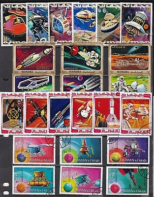 *** SPACE *** = = 4 VERY COLORFUL Complete Sets. Includes CTO's.