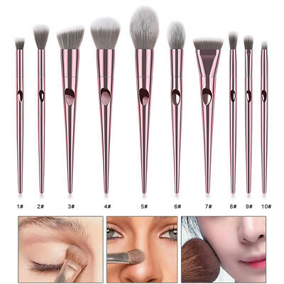 10Pcs Pro Makeup Brushes Set Foundation Blush Beauty Cosmetic Brush Tools s!
