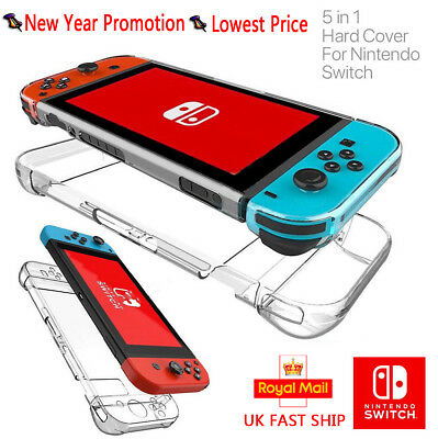 For Nintendo Switch Transparent Clear Shockproof Protector Hard Game Case Cover