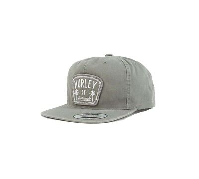 63d889e1929 Hurley Men s Roped In Adjustable Snapback Hat-Light Grey-One Size
