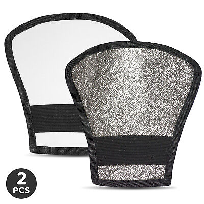 2Pack Lusana Studio Reversible Flash Diffuser Silver/White Reflector Photography